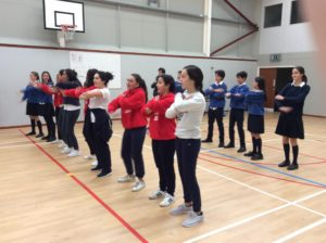 Dancing in the Sports Hall!